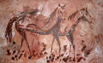 Pareja de caballos