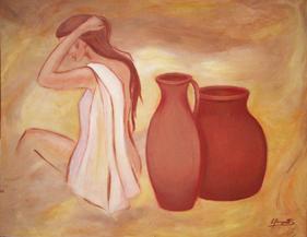 Mujer con vasijas